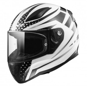 FF353 RAPID CARBORACE MATT WHITE BLACK WITH ANTIFOG VISOR