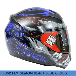 FF352 FLY DEMON GLOSS BLACK BLUE