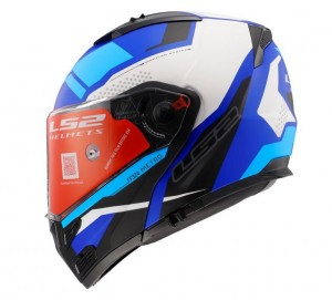 FF324 METRO EVO COMPLEX MATT BLACK WHITE BLUE WITH PEAK