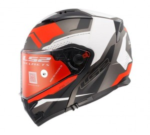 FF324 METRO EVO COMPLEX MATT BLACK WHITE RED  ( with peak)