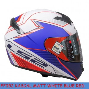 FF352 KASCAL WHITE BLUE RED MATT