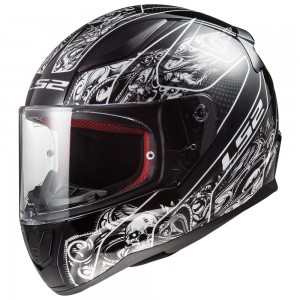 FF353 RAPID CRYPT MATT BLACK WHITE WITH ANTIFOG VISOR