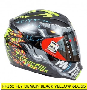 FF352 FLY DEMON GLOSS BLACK YELLOW