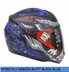 FF352 FLY DEMON MATT BLACK BLUE