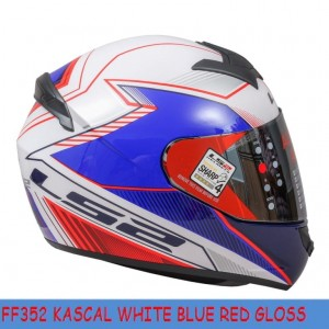 FF352 KASCAL WHITE BLUE RED GLOSS