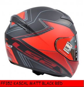 FF352 KASCAL BLACK RED MATT