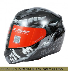 FF352 FLY DEMON GLOSS BLACK GREY