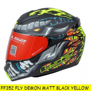 FF352 FLY DEMON MATT BLACK YELLOW