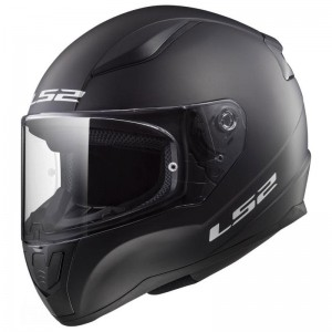 FF353 MINI SOLID MATT BLACK KIDS HELMETS WITH ANTIFOG VISOR