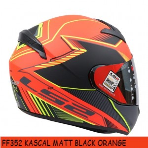 FF352 KASCAL MATT BLACK ORANGE