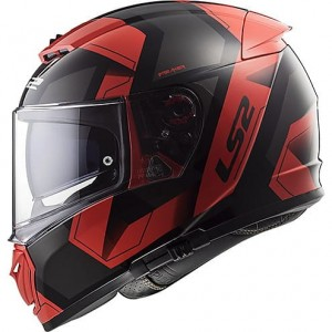 FF390 BREAKER PHYSICS MATT BLACK RED WITH ANTIFOG VISOR DOT