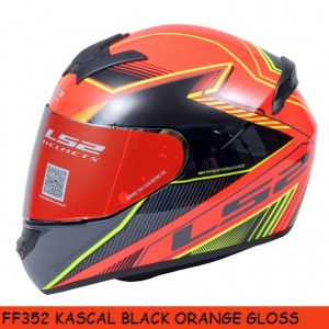 FF352 KASCAL BLACK ORANGE GLOSS
