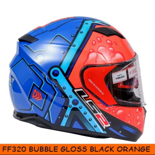 FF320 Bubble Gloss Black Orange blue